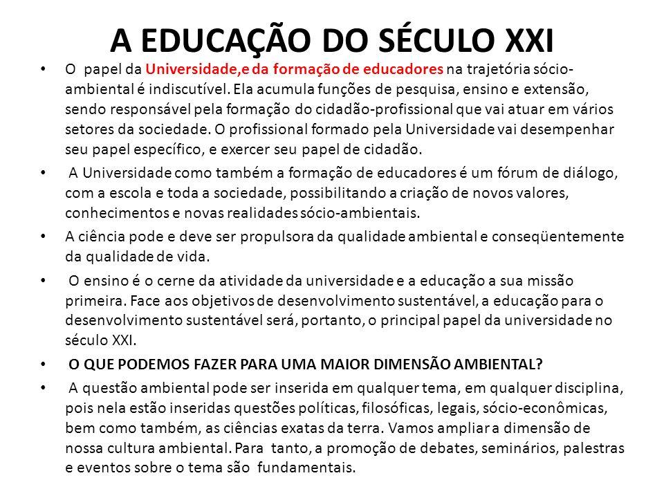 A EDUCAÇÃO DO SÉCULO XXI
