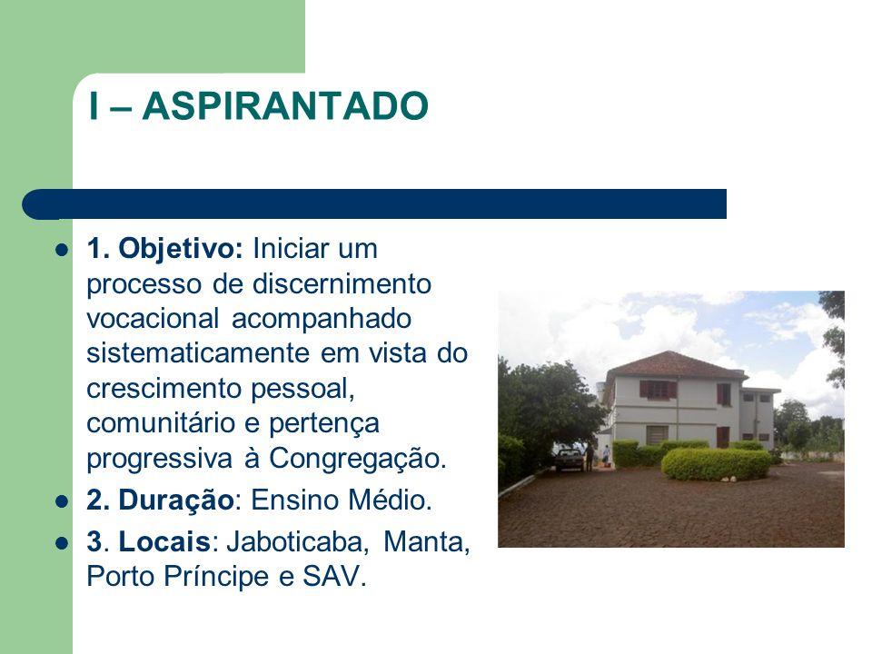 I – ASPIRANTADO