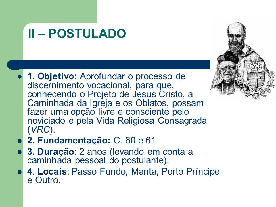 II – POSTULADO