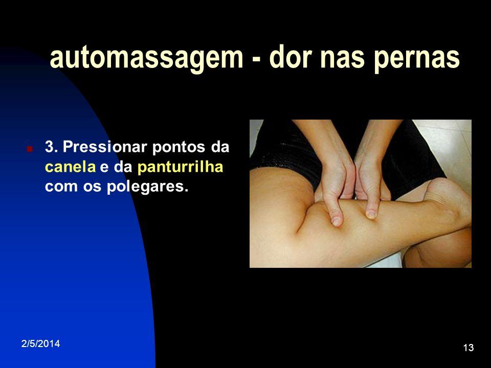 automassagem - dor nas pernas