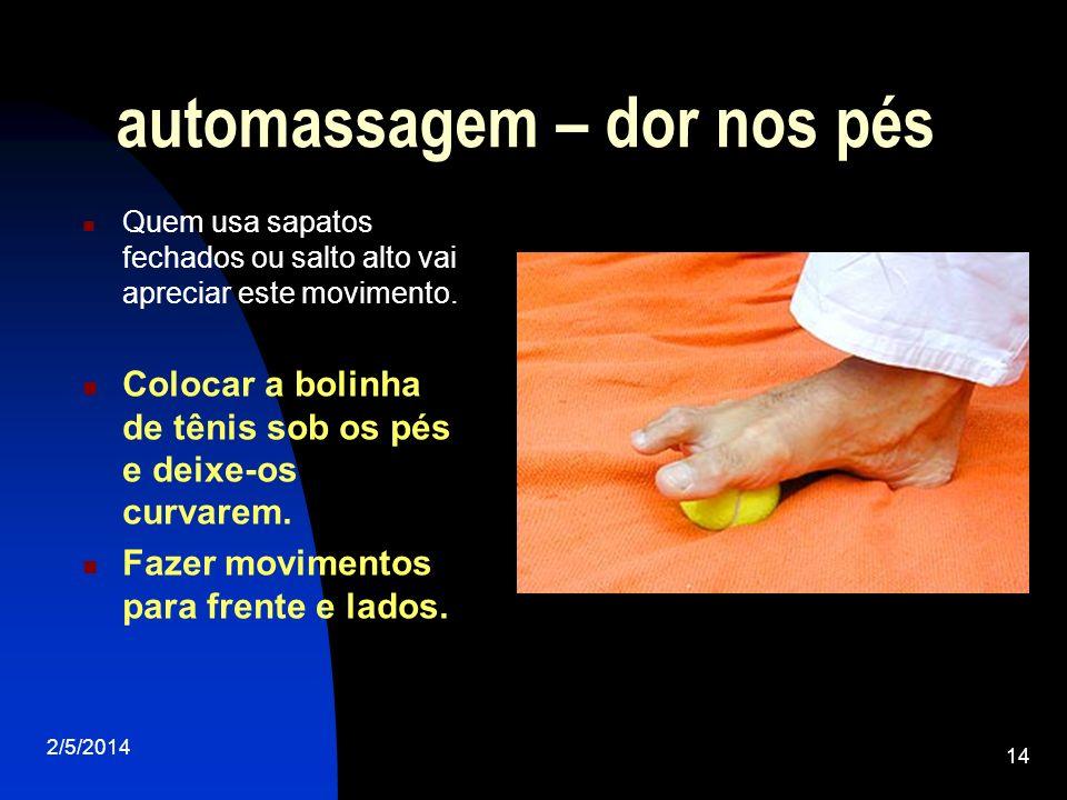 automassagem – dor nos pés