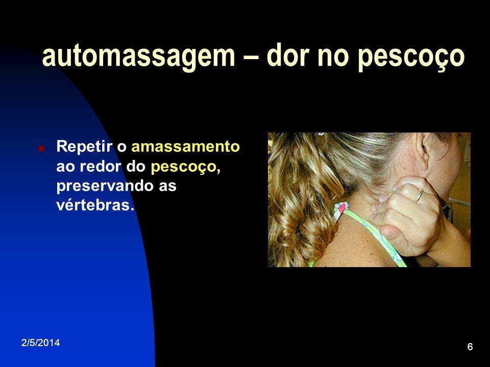 automassagem – dor no pescoço