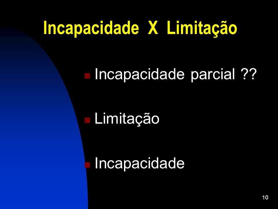Incapacidade X Limitação
