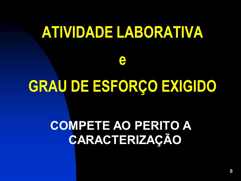 ATIVIDADE LABORATIVA e GRAU DE ESFORÇO EXIGIDO