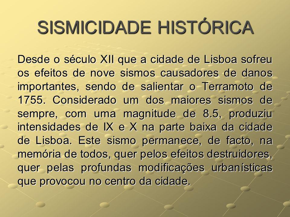 SISMICIDADE HISTÓRICA