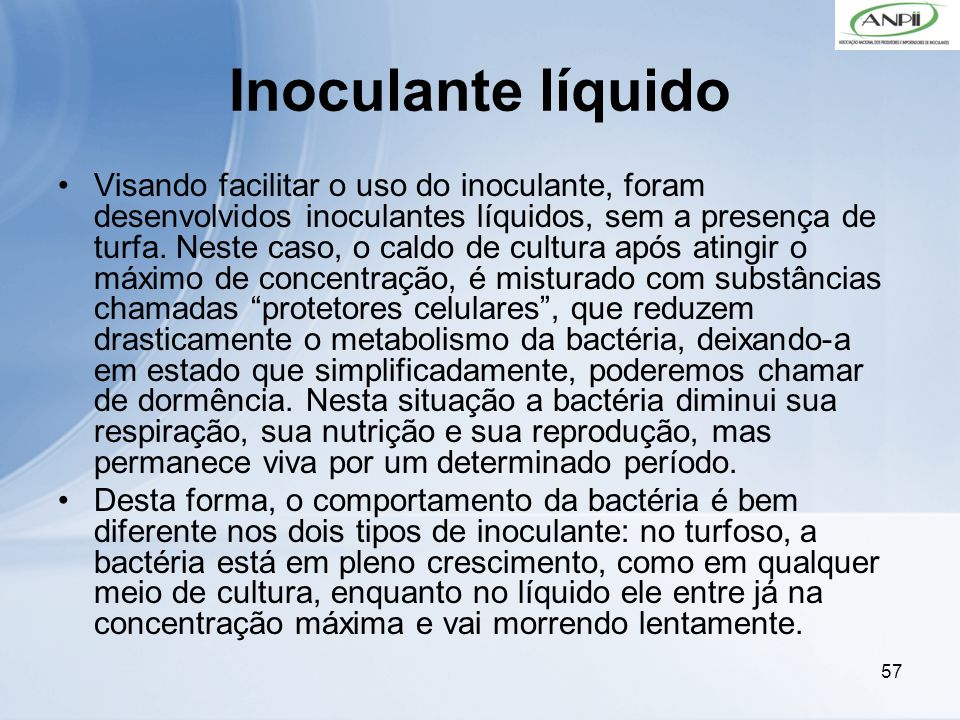 Inoculante líquido