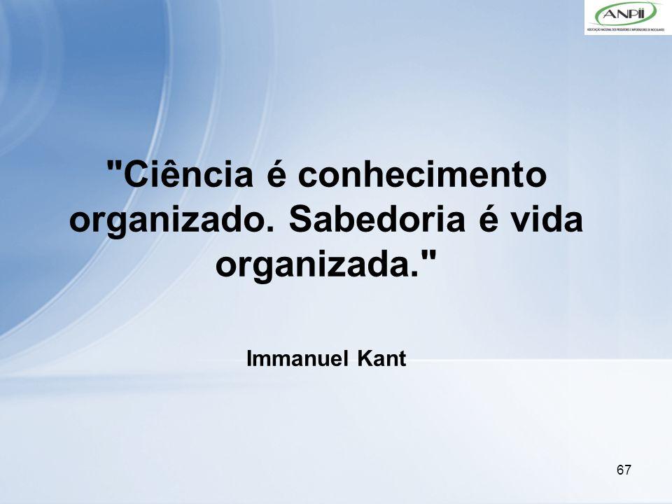 Ciência é conhecimento organizado. Sabedoria é vida organizada