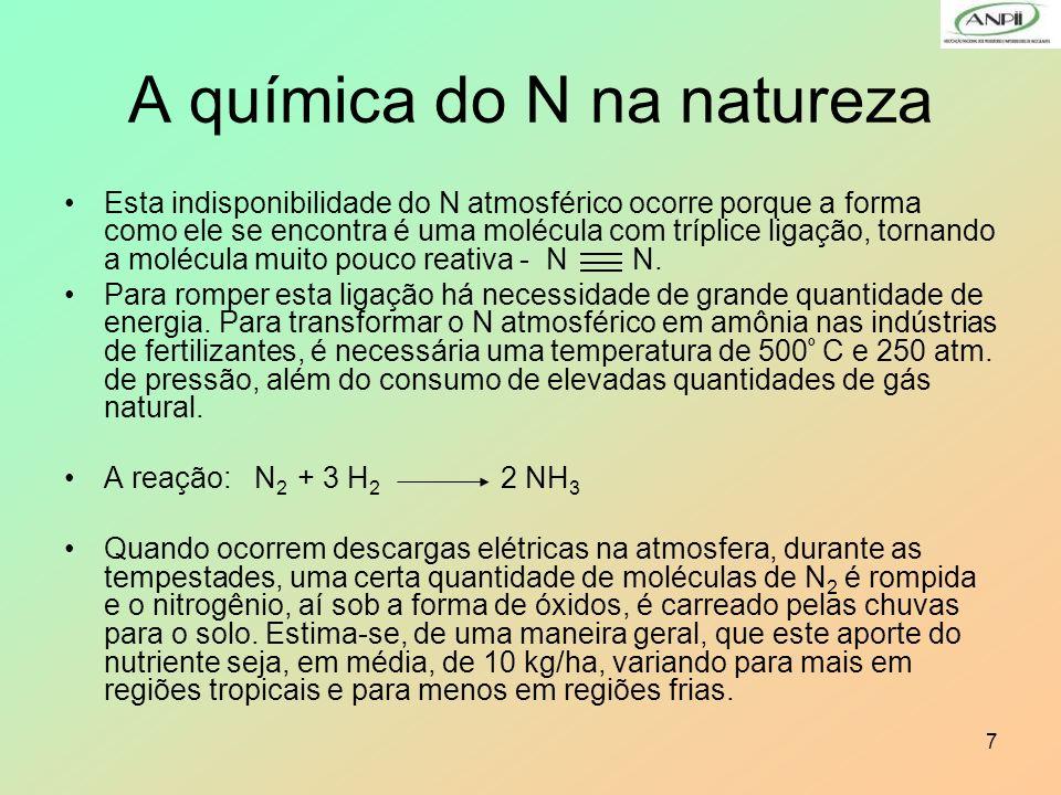 A química do N na natureza
