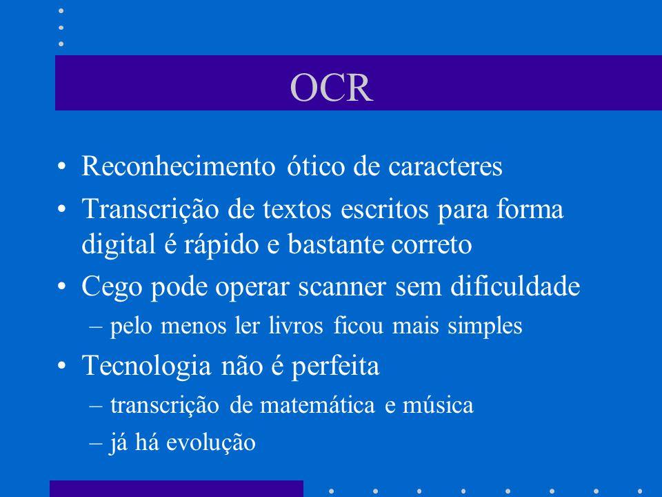 OCR Reconhecimento ótico de caracteres