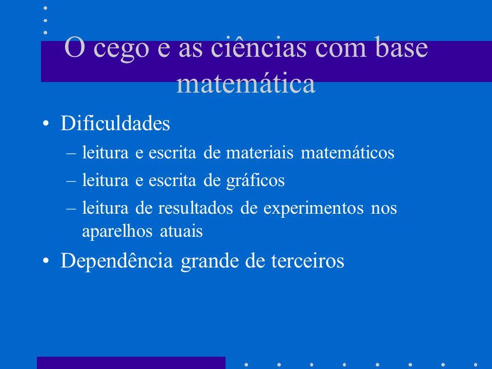 O cego e as ciências com base matemática