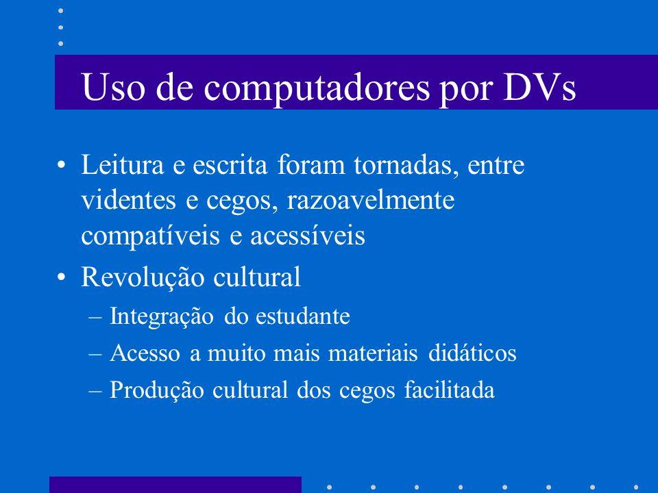 Uso de computadores por DVs