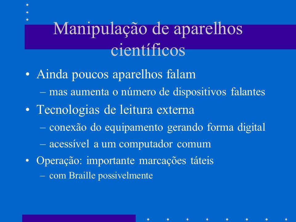 Manipulação de aparelhos científicos