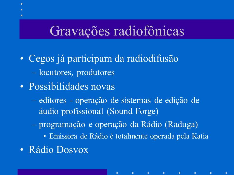 Gravações radiofônicas