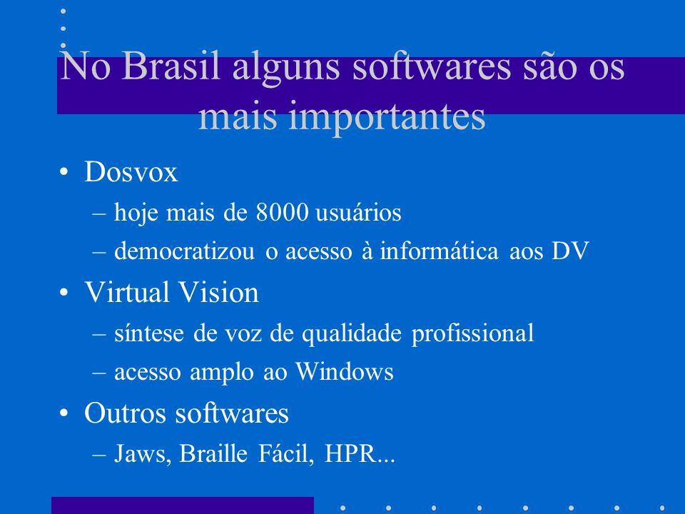 No Brasil alguns softwares são os mais importantes