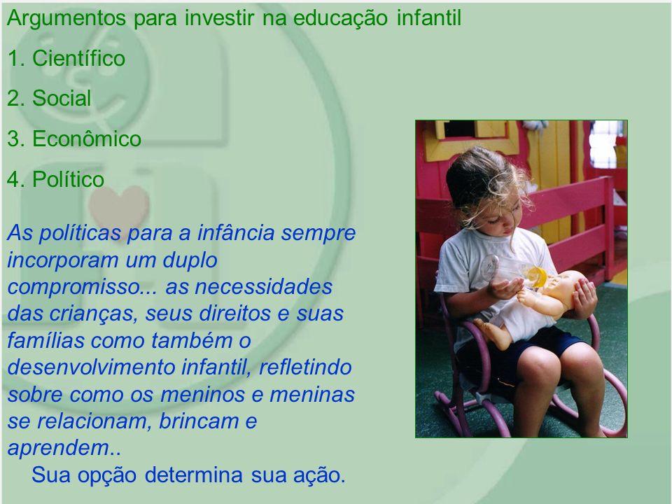 Argumentos para investir na educação infantil