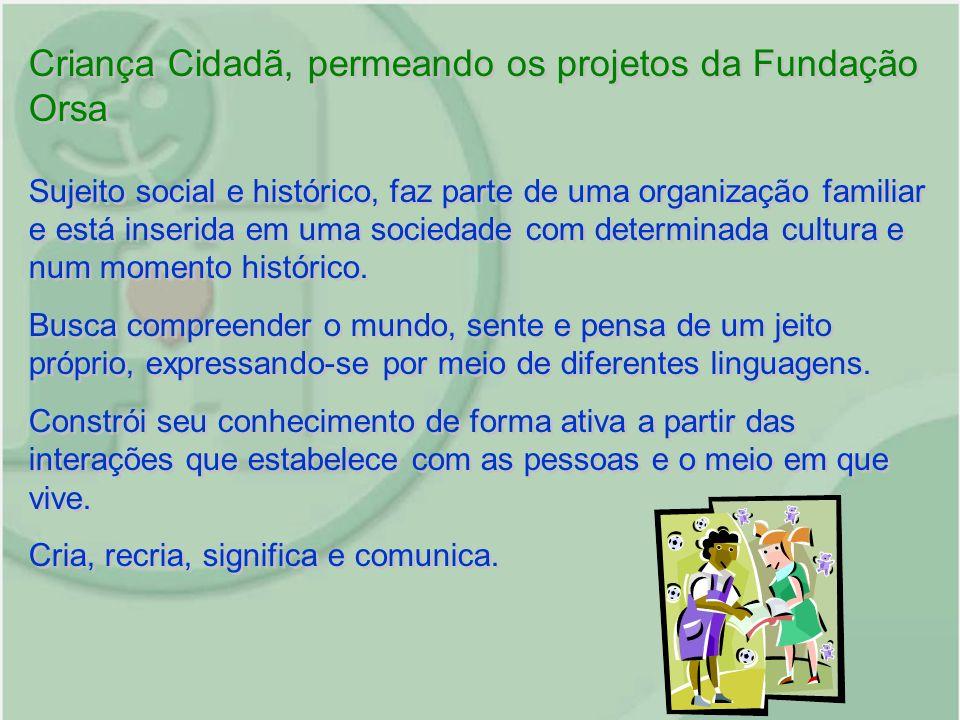 Criança Cidadã, permeando os projetos da Fundação Orsa