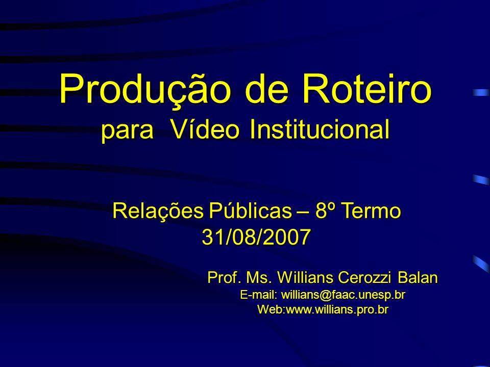 Produção de Roteiro para Vídeo Institucional