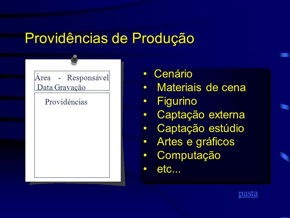 Providências de Produção