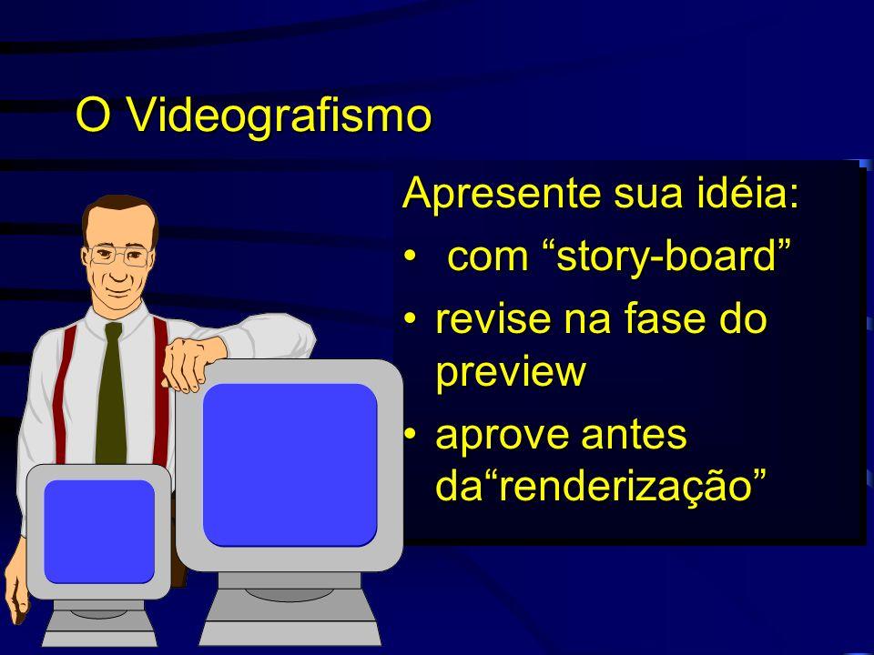O Videografismo Apresente sua idéia: com story-board