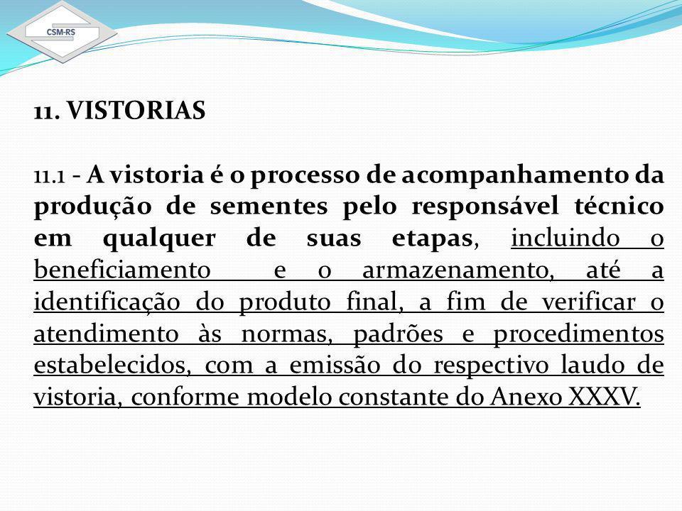 11. VISTORIAS