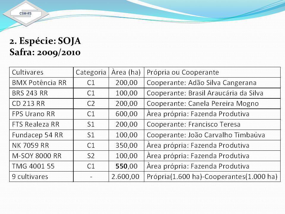 2. Espécie: SOJA Safra: 2009/2010