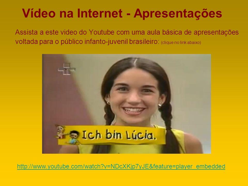 Vídeo na Internet - Apresentações