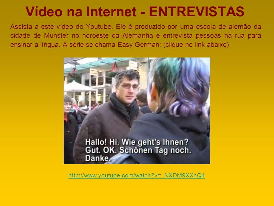 Vídeo na Internet - ENTREVISTAS