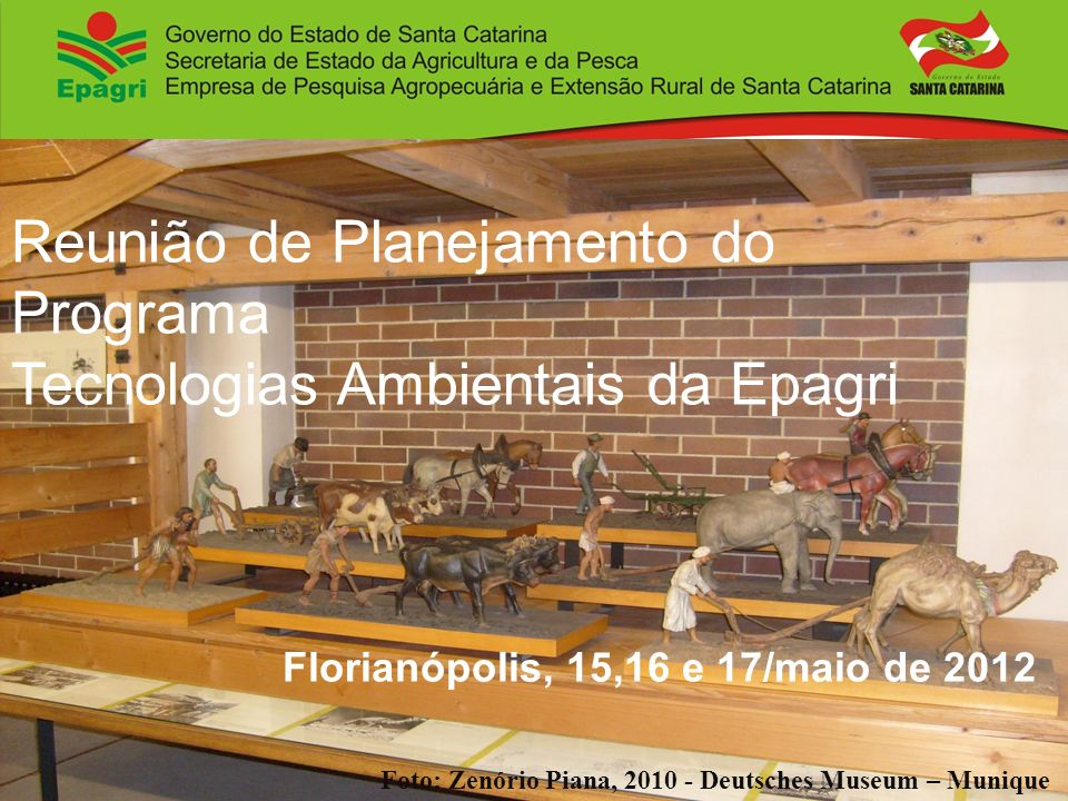 Reunião de Planejamento do Programa Tecnologias Ambientais da Epagri