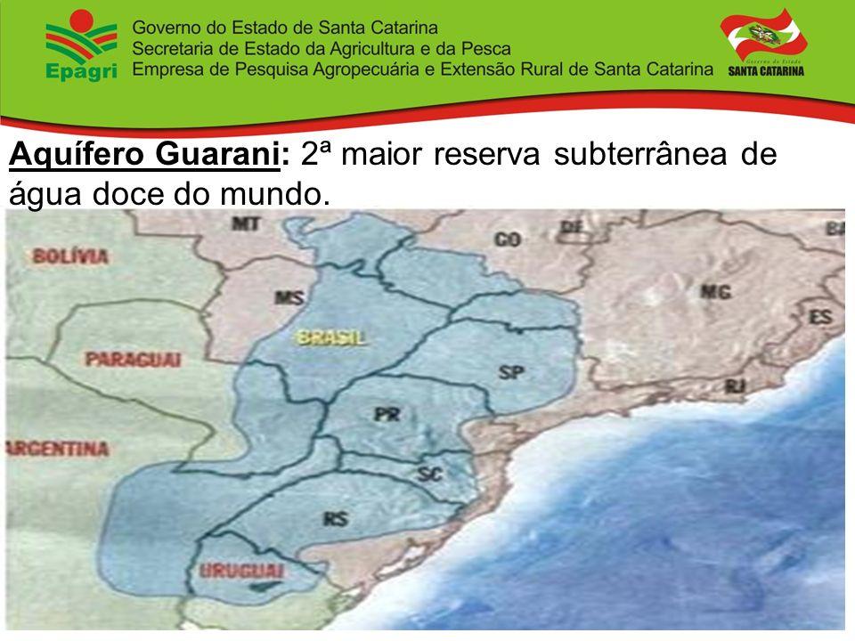 Aquífero Guarani: 2ª maior reserva subterrânea de água doce do mundo.