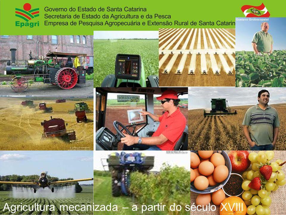 Agricultura mecanizada – a partir do século XVIII