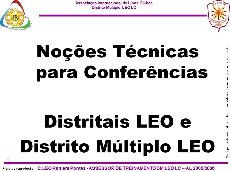 Noções Técnicas para Conferências