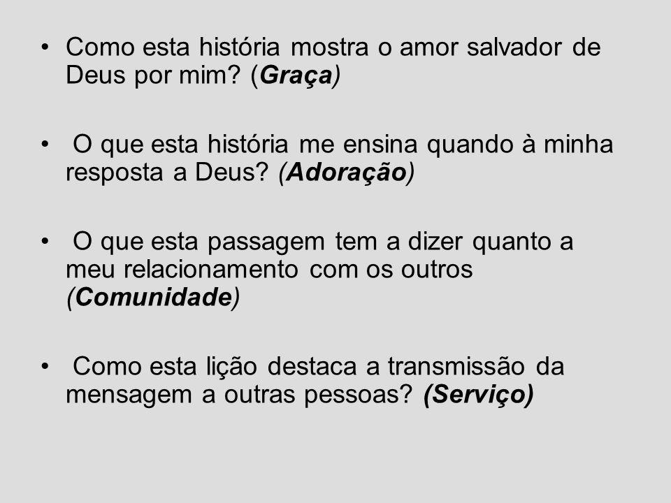 Como esta história mostra o amor salvador de Deus por mim (Graça)