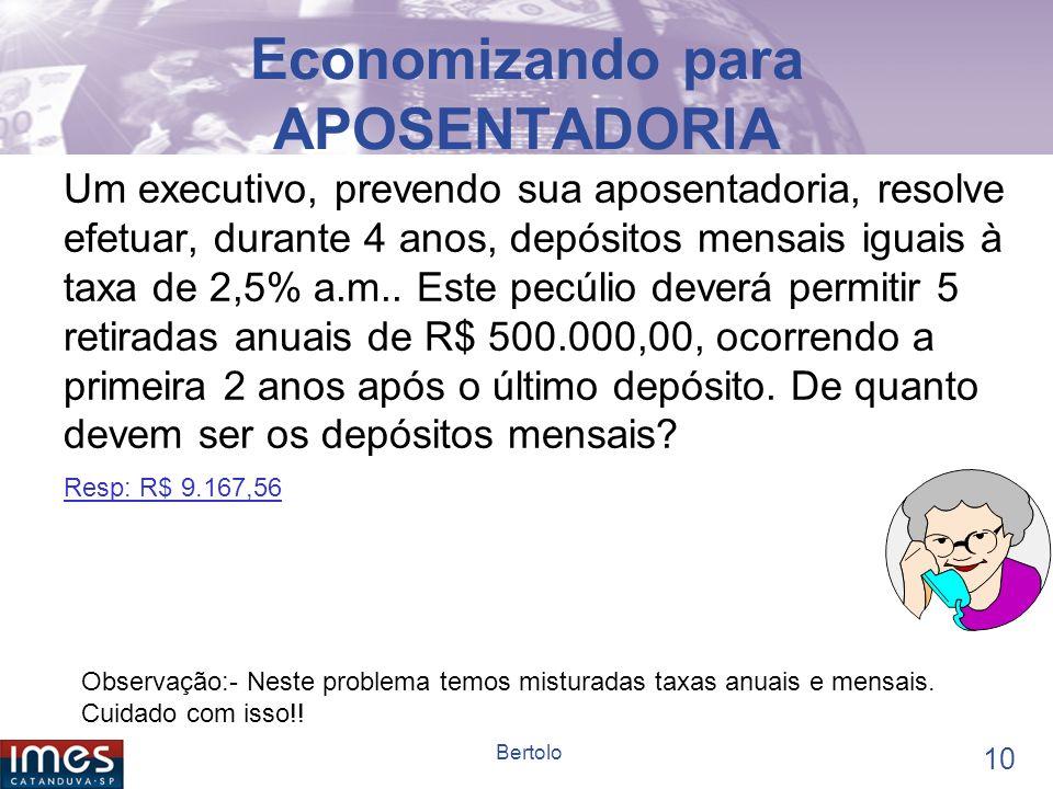 Economizando para APOSENTADORIA