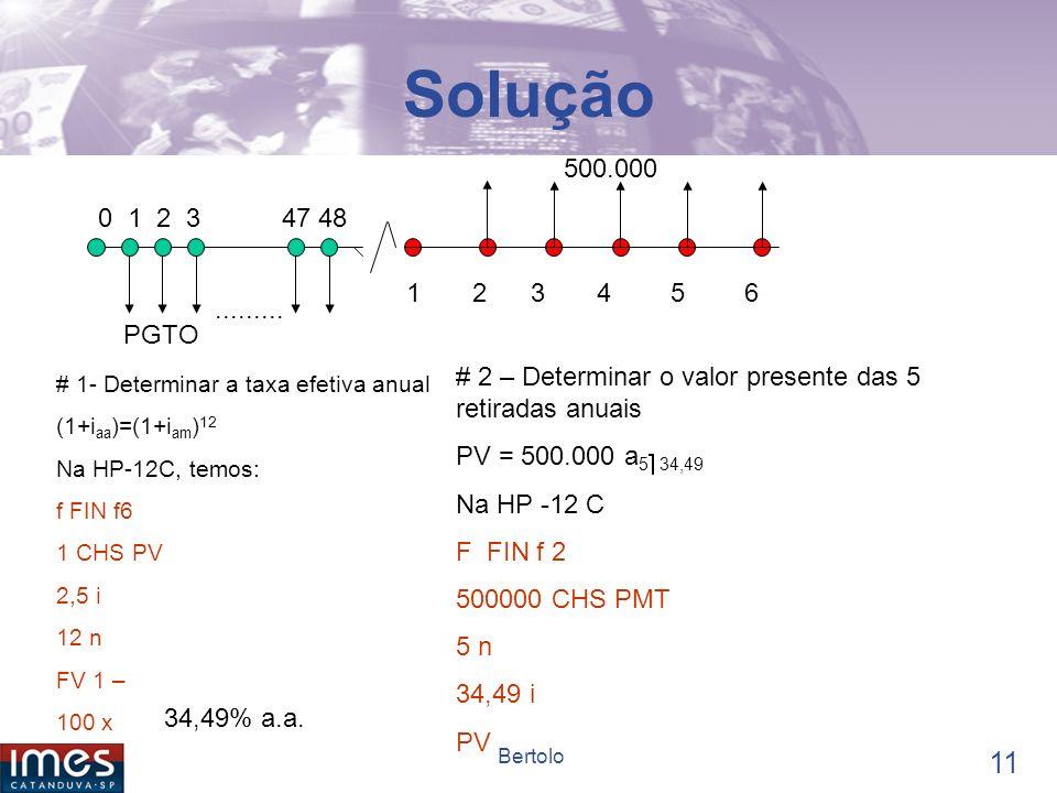 Solução 500.000. 0 1 2 3 47 48. 1 2 3 4 5 6. .........
