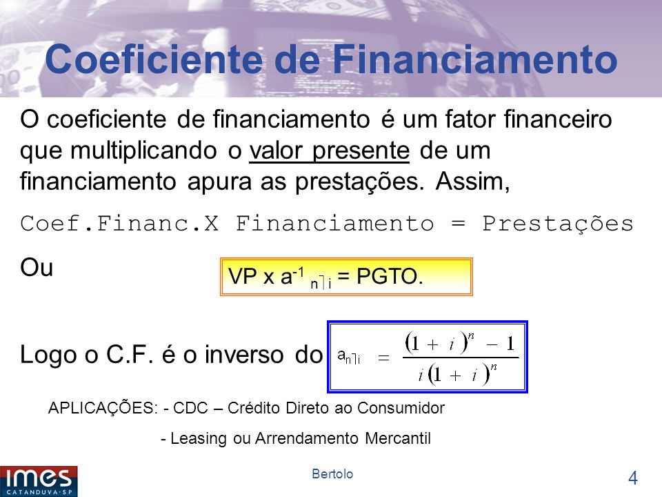 Coeficiente de Financiamento
