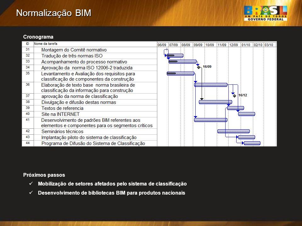 Normalização BIM Cronograma Próximos passos