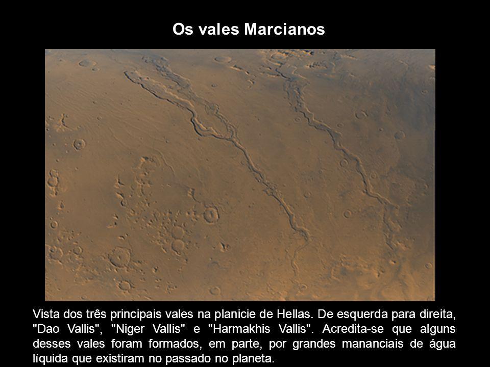 Os vales Marcianos