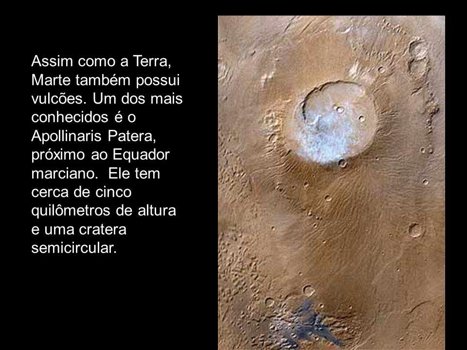 Assim como a Terra, Marte também possui vulcões. Um dos mais