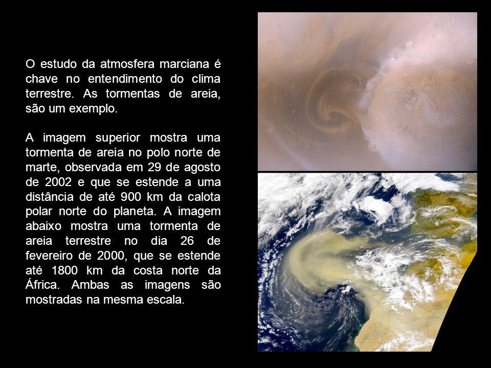 O estudo da atmosfera marciana é chave no entendimento do clima terrestre. As tormentas de areia, são um exemplo.