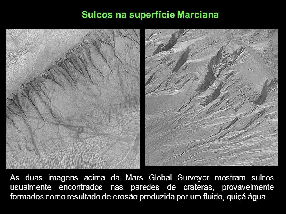 Sulcos na superfície Marciana
