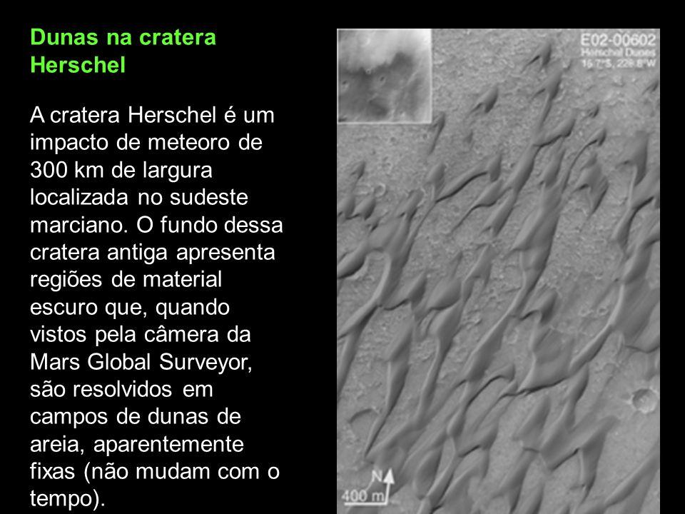 Dunas na cratera Herschel
