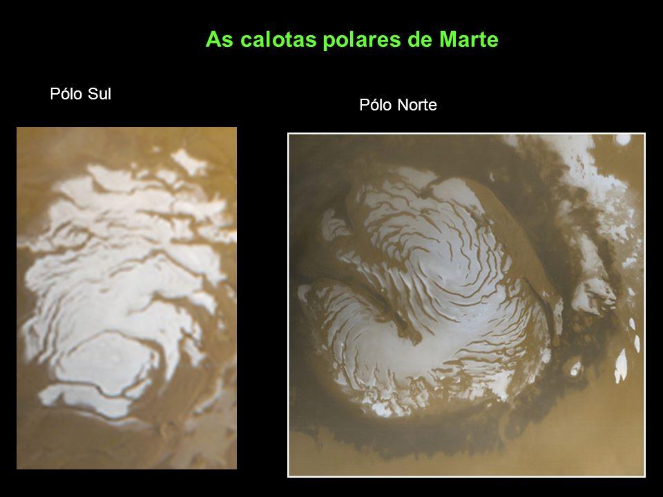 As calotas polares de Marte