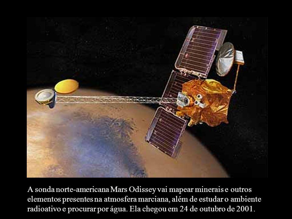 A sonda norte-americana Mars Odissey vai mapear minerais e outros