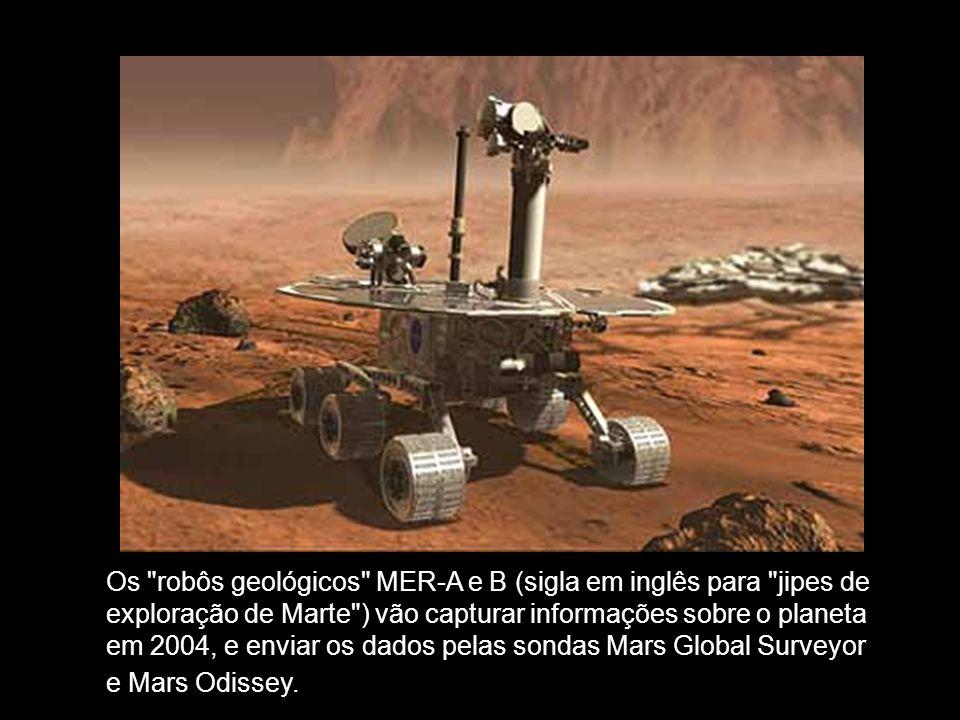 Os robôs geológicos MER-A e B (sigla em inglês para jipes de