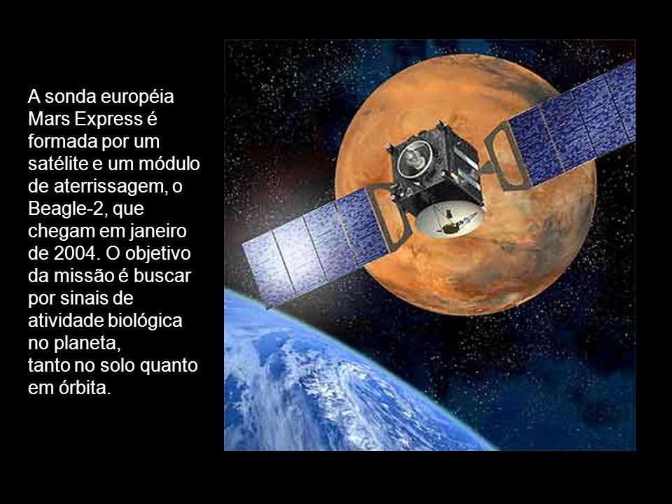 A sonda européia Mars Express é formada por um satélite e um módulo