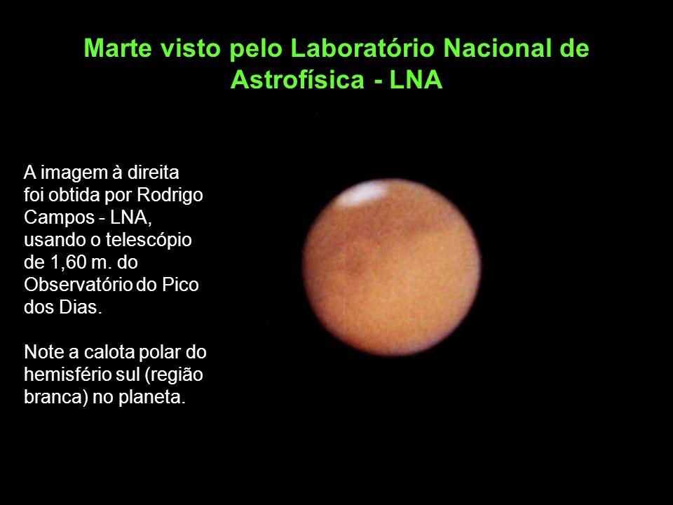 Marte visto pelo Laboratório Nacional de Astrofísica - LNA