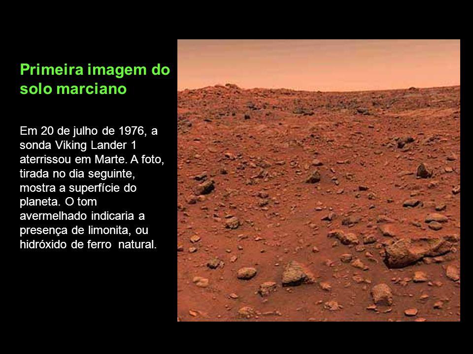 Primeira imagem do solo marciano