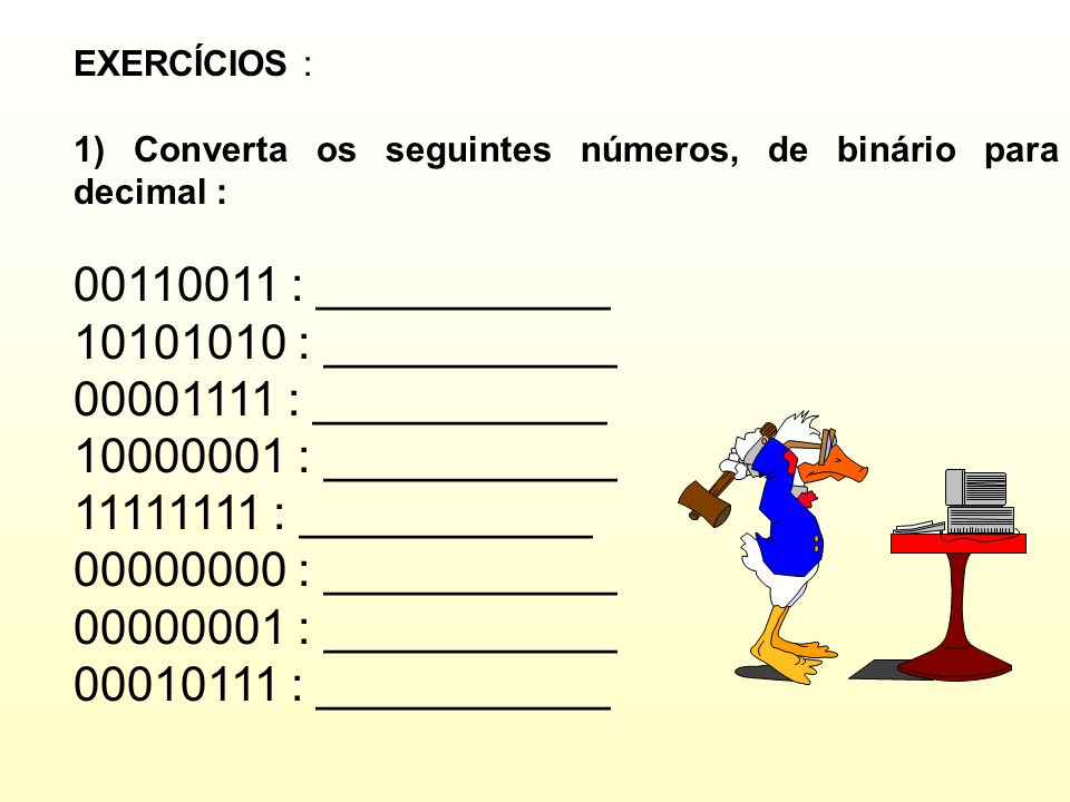 00110011 : ___________ 10101010 : ___________ 00001111 : ___________