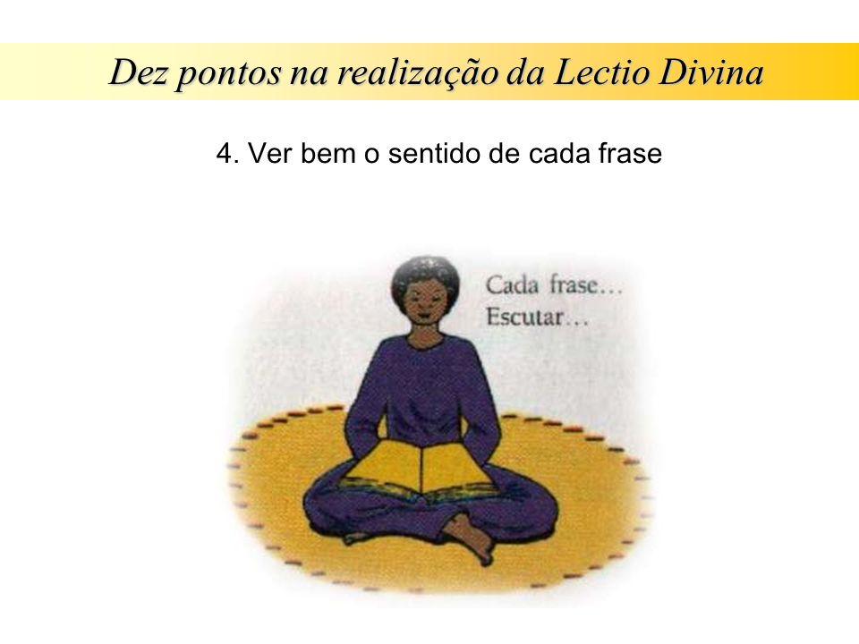 Dez pontos na realização da Lectio Divina