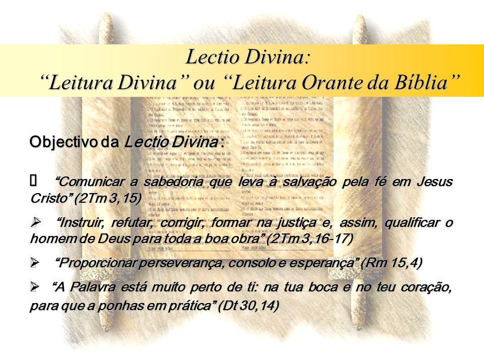 Leitura Divina ou Leitura Orante da Bíblia